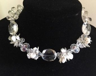 Crystal Quartz & Pearl Necklace