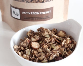 ON SALE Activation Energy -- coffee and chocolate granola