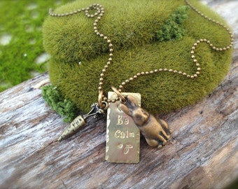 Bunny SALE! Rabbit Be Calm Necklace
