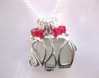 Elephant Pendant - Sea Glass Elephant Pendant Seaglass Jewelry Seaglass Pendant Beach Glass Jewelry Handmade, Custom Jewelry