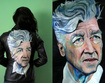 David Lynch / Hand-Painted leather jacket
