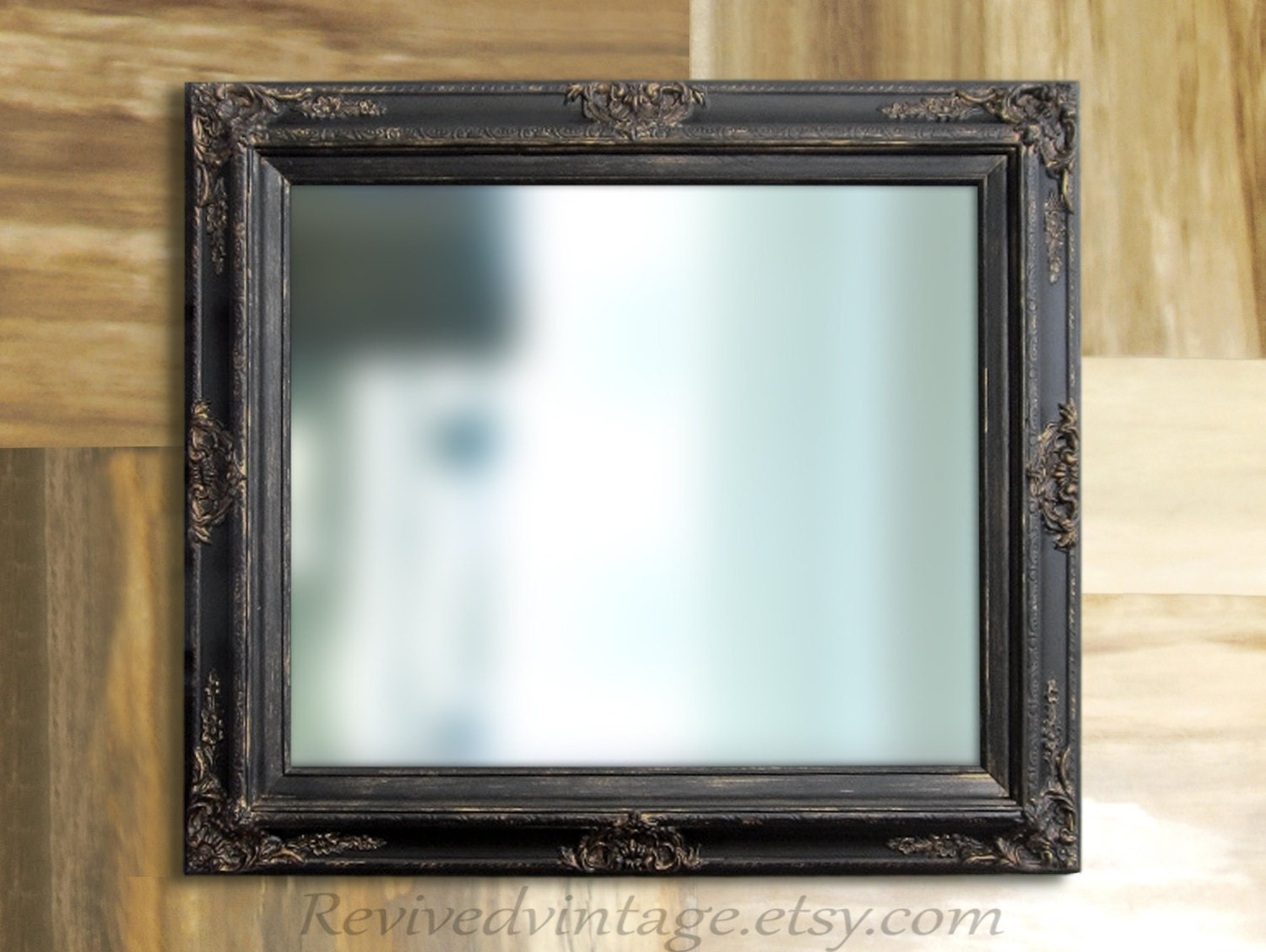 Rustic black mirror for sale oil rubbed bronze rustic black for Bronze framed bathroom mirror