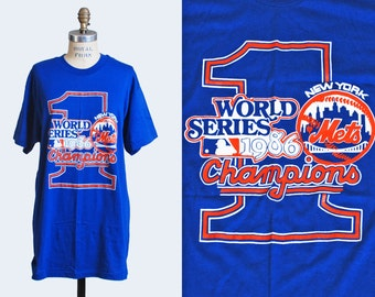 80s New York METS Tshirt / 1986 World Series Baseball Shirt