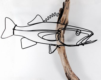Walleye Wire Sculpture, Wall Art Fish,  Fish Wallhanging, Fish Wire Art, Fish Art