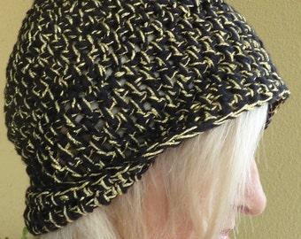 Women's hat crochet black gold team hat ski accessories women's winter hat Women's fashion