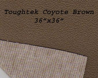 Toughtek Non slip Coyote Brown Fabric 36 by 36 inches