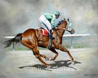 Galloping Race Horse Print