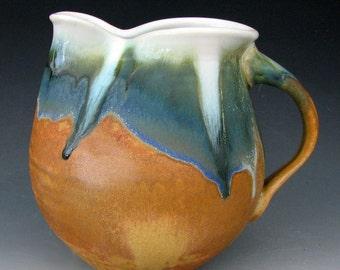 CERAMIC PITCHER #5 - Stoneware Pitcher - Small Pitcher - Pottery Pitcher - Flower Vase - Ceramic Vase