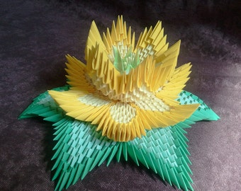 Tutorial: How to make 3d origami  Lotus Flower