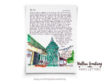 Wallace Fountains: Paris Letters, July, A letter about the history of the drinking fountains of France, brought to Paris by an Englishman!