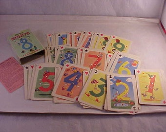 1951 Crazy Eights Card Game Complete