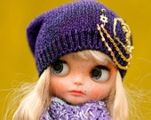 Slouchy Glamour Sparkle Embroidery Beads Hat Blythe Hat OOAK Blythe Hat  Fantasy Hat Blythe Blythe Outfit Hat Blythe
