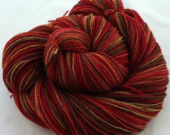 "SW Merino/Yak/Silk Hand Dyed Yarn  ""Earthy Redwoods"""