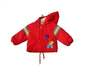 BLOWOUT 40% off sale Vintage 80s Winning Moves Teddy Bear and Balloon Red Coat Jacket - Kids Size 18M 2T