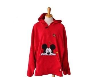 sale // Vintage 90s Mickey Unlimited Fleece Pullover Jacket - Woman 26W, plus size vintage