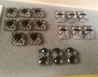 Destashing - Slide bars with Bling - Lot of 17!