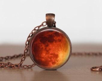 Mars Pendant Jewelry Mars  Necklace