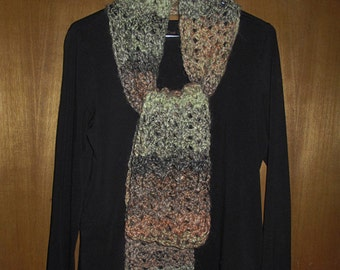 Multicolor Crocheted Scarf