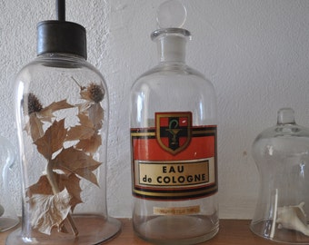 Vintage French Apothecary Bottle - Pharmacy Bottle - Eau de Cologne