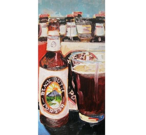 Oregon Beer Art, Black Butte Porter by Deschutes Brewing, 99 Bottles of Beer, Craft Beer Gifts, Gift for Brother, Bar Art, Man Cave Poster