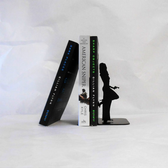 Special Agent / Woman Spy / Mission Impossible / Double Agent / Undercover / Secret Agent / Metal Art Bookends