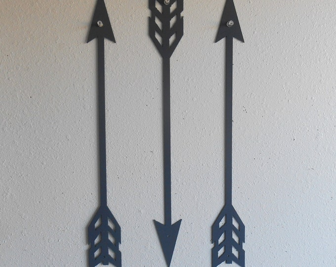 Arrows / Gray / Metal Art / Wall Decor / Set of Three / Home Decor / Arrow head / Archery /  Several sizes