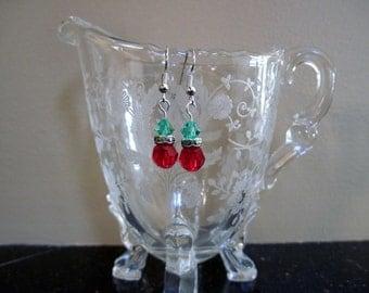 Crystal Christmas Earrings