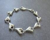 RLM Studio Vintage Heart Bracelet, Sterling Silver Heart Bracelet, Sculpture Heart Bracelet, Silver Heart Bracelet, Vintage Heart Bracelet