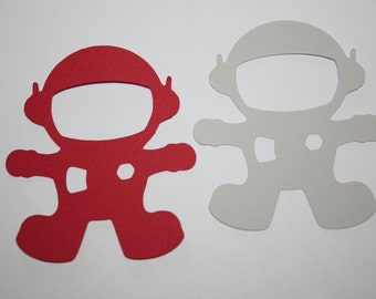 18 x Astronaut Die Cut Tags - Choose your own Colors!