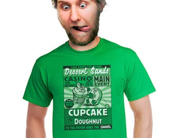 cupcake t-shirt doughnut t-shirt funny food tshirt gifts for foodies eating humor humorous culinary gift for bakers baking t shirt small xl