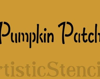 STENCIL  Pumpkin Patch 10X2.5