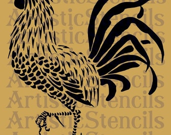 Rooster Stencil No 2 Various sizes