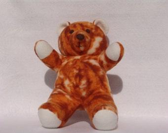 Orange tie dye teddybear