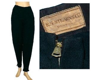 31x27 Vintage 1930s Women's Ski Pants, Wool Snow Pants, Vintage Sportswear