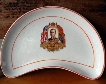 1937 Plate Coronation of H.M. King Edward VIII by Grindley Made in England Bone dish royals abdicator royalty commemorative plate