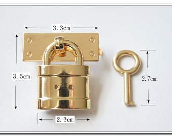 golden little  purse lock with key for purse decoration