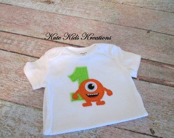 Baby/Toddler Monster Bodysuit, Size 12 M, Ready to Ship