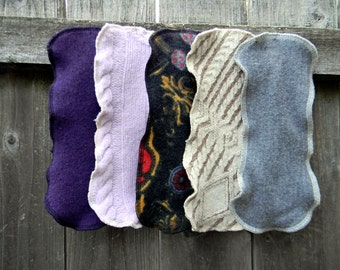 Upcycled Wool Diaper Doubler Wool Liner Wool Insert For Wool Soaker Cover Wool Nappy Cover Set Of Three