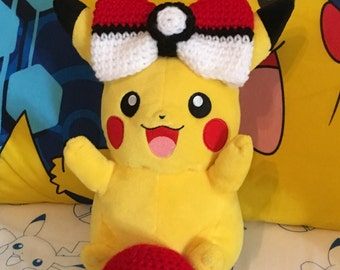 Crocheted Inspired Pokemon Ball ONLY