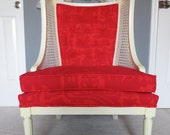Seeing Red Wingback Marimekko Chair