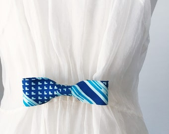 Silk Bow Tie Cinch Clip