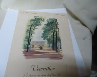 Vintage 1955 Dinner Menu Versailles, From France, collectable