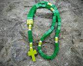 Lego Rosary - The Original Catholic Lego Rosary - Green Catholic Rosary  (The Shamrock)
