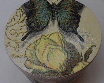 Butterfly & Rose Trinket Box