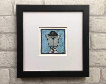 Cat in a bowler hat print - Hodgekiss the City Cat - Giclée print
