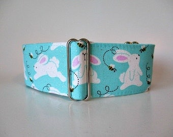 Easter Martingale Collar, Easter Bunny Martingale Collar, Easter Dog Collar, Easter Bunny Dog Collar, Greyhound Martingale Collar