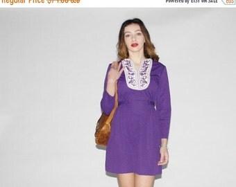 75% OFF FINAL SALE - Vintage 1960s Dress - 60s Mod  Dress  -  Vintage Festival Dress - The Daliah Dress - 10029