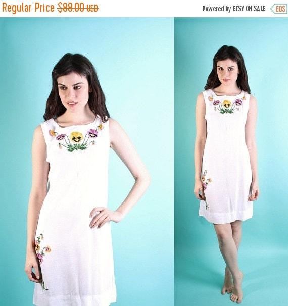 75% OFF FINAL SALE - Wedding Dress / Vintage Wedding Dress / Dress / Short Wedding Dress / Mexican / Ethnic / Cotton /  Boho / Plus Size / 0