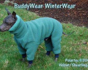 Malden Mills Polartec 300 WinterWear fleece for Italian Greyhounds, Hairless, and all small dogs.