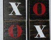 Valentine's Day Blocks XOXO Block's Decor
